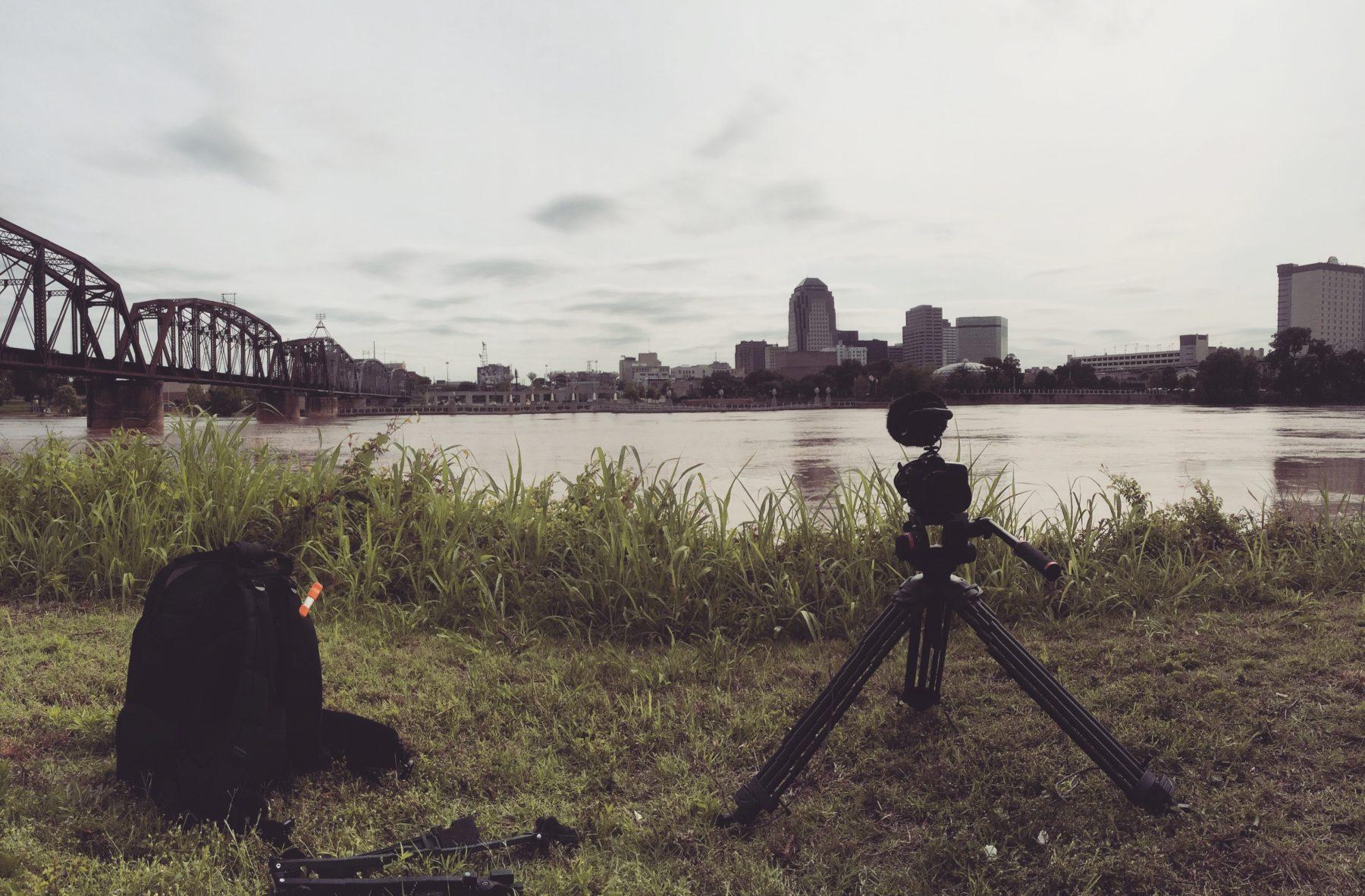 Shreveport -- locked down on the river.