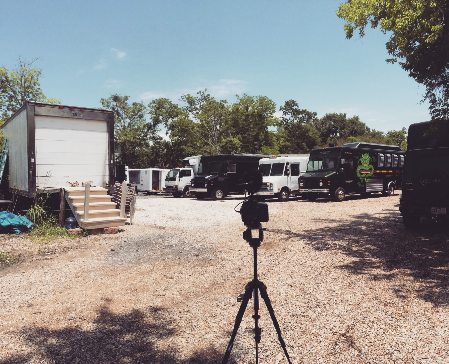 The Lake House -- Catering the film industry in Louisiana takes trucks, lots of trucks. #supportfilminlouisiana